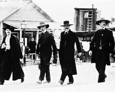 Kurt Russell as Wyatt Earp, Sam Elliott as Virgil Earp, Val Kilmer as Doc Holliday - Tombstone