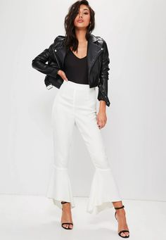 576 items - Give your dress the night off & shop our latest collection of women's trousers. From work trousers, cargo pants to leather trousers. Work Trousers, White Trousers, Leather Trousers, Trouser Pants, Trousers Women, Slacks, White Jeans, Pants For Women, How To Hem Pants
