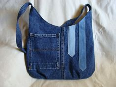 Three toned denim bag with button trim by InnerCreativeChild