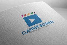 Clapper Board Logo by josuf on Creative Market