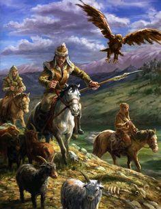 mongols by egilthompson on DeviantArt Medieval World, Medieval Fantasy, Historical Art, Historical Pictures, Ancient Art, Ancient History, Fantasy Warrior, Fantasy Art, Middle Ages History