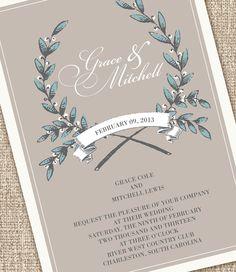Rustic Modern Wedding Invitations
