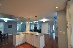 Great open concept home with beautiful and spacious kitchen!
