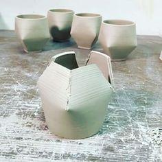 Hand Built Pottery, Slab Pottery, Pottery Mugs, Ceramic Pottery, Pottery Wheel, Thrown Pottery, Ceramic Techniques, Pottery Techniques, Slab Ceramics