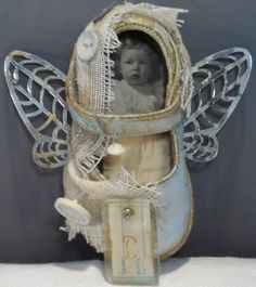 altered baby shoe...sweet