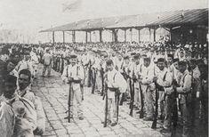 The Spanish army's Batallon de Luzon on the Muelle de Caballeria (Cavalry pier) in Manila