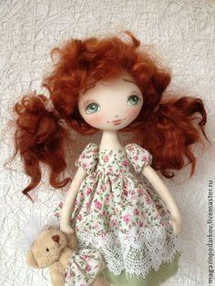 Кукла Юлька - рыжий,розовый,рыжие волосы,подарок,подарок девушке,подарок женщине