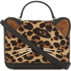 Kate Spade New York Ladies Brown Leopard Modern Hallie Run-Wild Shoulder Bag