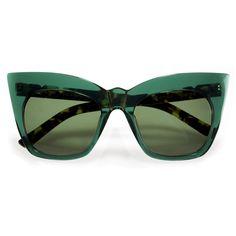 KOHLS & KAFTANS - Emerald Green ($180) ❤ liked on Polyvore featuring tops, eyewear, emerald green top, caftan tops, green top and kaftan tops