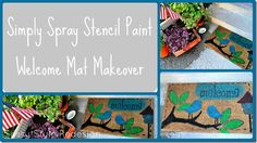 fabric spray, mat, spray paint, spray stencil, simpli spray, spray project, stencil paint