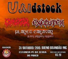 Uaidstock, um evento especial com três grandes no Pé da Serra do Pidico em Bueno Brandão, Minas Gerais