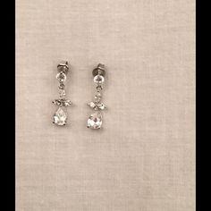 ❣FREE❣✨Earrings✨ Silver cubic zirconium diamond earrings, flawless condition from a smoke free home. Purchase $30 or more (not including shipping and receive these beauties for FREE❣ Jewelry Earrings