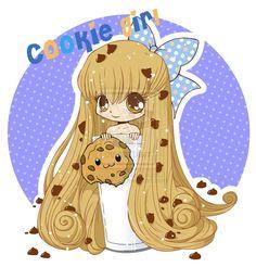 Chibi Cookie Girl by YAmPuff.deviantart.com on @deviantART