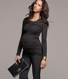 Maternity - keep it simple... show off that belly with a great belly snug shirt and a fabulous pair of slacks or jeans.