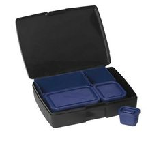 Laptop Lunches Bento-ware Bento Lunch Box with BPA-Free, Leak-proof Containers, Black/Blue Healthy Packed Lunches, Healthy Lunches For Work, Healthy Toddler Meals, Work Lunches, Toddler Food, Healthy Habits, Best Meal Prep Containers, Laptop Shop, Bento Box Lunch