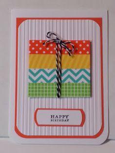 Pinterest inspired Washi Tape Birthday card-blog post