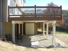 utilizing space under deck | Decks R Us builds quality decks in York , King of Prussia, Pottstown ...