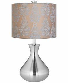 coast spun metal vase table lamp table lamps for the home macy 39 s. Black Bedroom Furniture Sets. Home Design Ideas