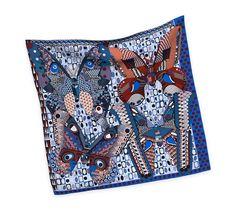 2014 F/W | Les Ailes de la Soie | Silk twill scarf, hand-rolled (90 cm x 90 cm) | Ref. H002845S 10 | CA$420.00