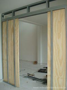 Pocket Door Installation, Drywall Installation, Make A Closet, Steel Frame House, Sliding Door Design, Traditional Doors, Street House, Ship Lap Walls, Pocket Doors