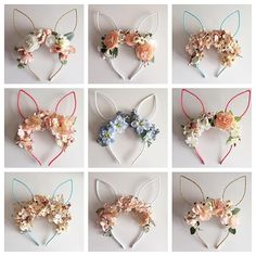 Floral Bunny Ears by JL Designs