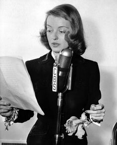 Emoter-In-Chief – Bette Davis On the Radio – Once upon a screen…