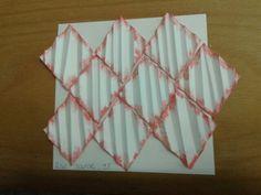 Kunstwerkje geometrische vormen