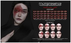 HALLOWEEN GIFT: EYES SCAR T. - do not re-upload my cc without my permission; - do not re-edit my cc without my permission; Sims 4 Cas, Sims Cc, Sims 4 Stories, The Sims 4 Packs, Sims 4 Game Mods, Sims 4 Cc Makeup, Play Sims, Sims 4 Cc Skin, Sims 4 Characters