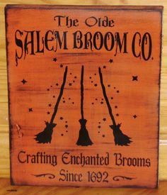 primitive Witch sign Olde Salem Broom Company Co Primitives Witches Signs plaques halloween props Painting Witchcraft Magic Pagan Wicca Retro Halloween, Halloween Prop, Halloween Photos, Halloween Signs, Halloween Cards, Halloween Outfits, Holidays Halloween, Happy Halloween, Halloween Decorations