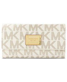 620d5b6b43 MICHAEL Michael Kors Handbag, MK Logo Checkbook Wallet - Wallets Wristlets  - Handbags Accessories -