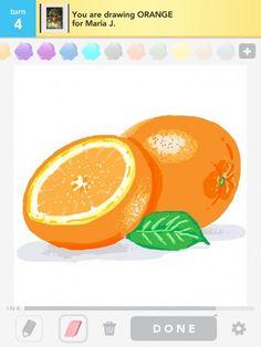 Orange drawing from Draw Something