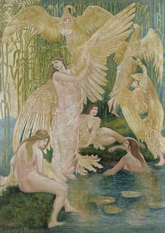 Walter Crane, The Swan Maidens, 1894