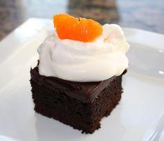 Veronica Foods - Delizia Olive Oil: Dark Chocolate-Blood Orange Agrumato Cake with Blood Orange Ganache
