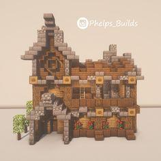 I'm posting a new build everyday ! Minecraft Cottage, Easy Minecraft Houses, Minecraft Castle, Minecraft Room, Minecraft Plans, Minecraft House Designs, Minecraft Decorations, Amazing Minecraft, Minecraft Tutorial