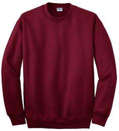Gildan DryBlend Crewneck Sweatshirt. 12000, Men's, Size: Small, Red