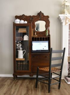 furniture shop How to Clean an Antique, antique side by side secretary, farmhouse secretary, vintage secretary Painting Wooden Furniture, Refurbished Furniture, Rustic Furniture, Furniture Makeover, Vintage Furniture, Furniture Decor, Living Room Furniture, Modern Furniture, Outdoor Furniture