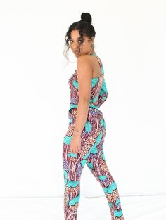 AFRICAN PRINT JUMPSUIT- I'YORE African Print Jumpsuit, African Print Clothing, African Print Fashion, African Dress, Fashion Prints, Size 16, Couture, Clothes, Beautiful