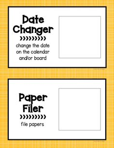 Classroom Jobs Posters and Banner Editable - Various Colors and Styles Classroom Jobs Board, Classroom Jobs Display, Classroom Job Chart, Classroom Routines, Classroom Procedures, Special Education Classroom, Classroom Themes, Classroom Organization, Bulletin Board
