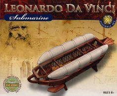 "Leonardo da Vinci, Multi Barrel de Cannon, ""Submarine"""