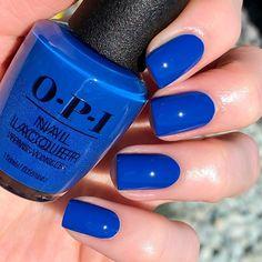 Opi Gel Polish, Opi Nail Polish Colors, Summer Nail Polish, Nail Polish Trends, Summer Acrylic Nails, Summer Nails, Shellac Colors, Cnd Shellac, Blue Gel