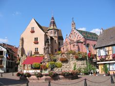 Eguisheim is very unique with its concentric layout of streets unlike other towns and villages in France.