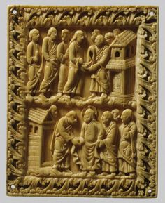 Two Scenes of Christ and Apostles. Carolingian (northern France) CA. 850-900.| The Metropolitan Museum of Art