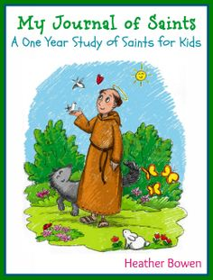 My Journal of Saints: a One Year Study of Saints for Kids-Teach your children about the lives of the people who greatly influenced our faith. Religion Activities, Teaching Religion, Catholic Religion, Catholic Crafts, Catholic Kids, Catholic Homeschooling, Church Crafts, Catholic Prayers, Catholic Schools Week