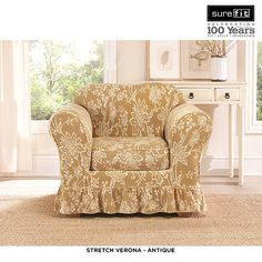2-Piece Set: SureFit Stretch Accent Chair Slipcover - Assorted Styles at 41% Savings off Retail!
