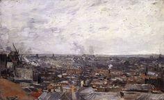 View of Paris from Montmartre Summer 1886, Paris Oil on canvas, 39 x 62 cm Öffentliche Kunstsammlung, Basel