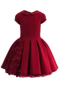 Red round neck cap sleeves short prom dress ,girls dress by prom dresses Little Dresses, Little Girl Dresses, Flower Dresses, Girls Dresses, Prom Dresses, Dress Prom, Fall Dresses, Long Dresses, Dress Long