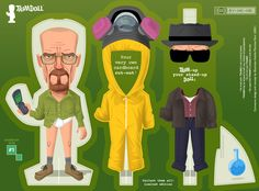 "Artwork inspired by the series ""Breaking Bad"". See more images of this Trimdoll by clicking here"