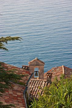 The rooftops and the sea by claudia via Flickr ~ View over the rooftops of Eze to the Mediterranean Sea
