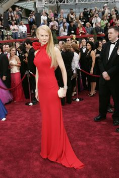 Nicole Kidman in Balenciaga, 2007Nicole Kidman's cherry red Balenciaga gown from 2007! It still looks so modern and elegant. Someone could wear it this year and you'd never guess it was 10 years old. And I love anything with a bow!—Emily Farra, Vogue.com Fashion News Writer