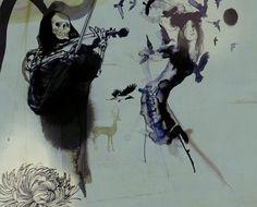 Ink Illustration by Daniel Egnéus